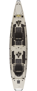 Hobie Mirage Pro Angler 17T fishing kayak in ivory dune for sale at sun valley sports